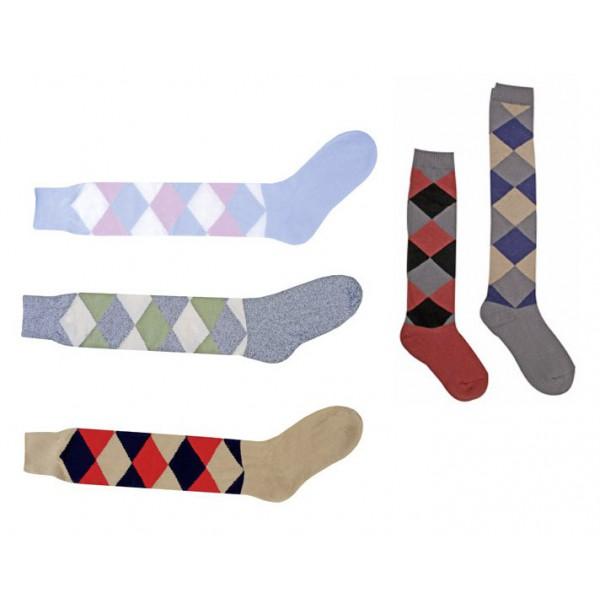 Chaussettes carreaux longues