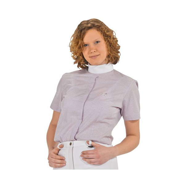 Chemise concours HKM manches courtes