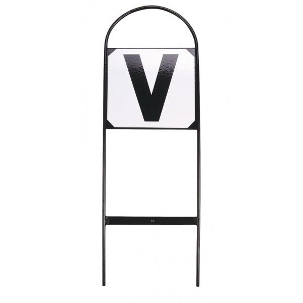 Set de 12 Lettres de dressage sur cadre mettalique