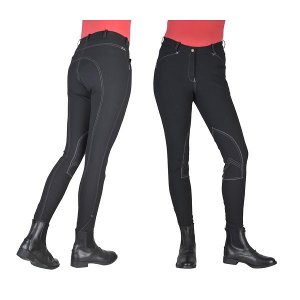 Pantalon HKM Vera Classic surpiqué